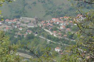 Pogled na Vranduk sa brda
